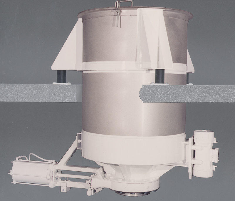 carman industries vibrating bin discharger for glass and tile industry